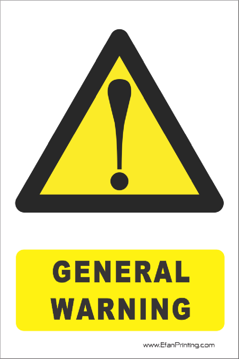 general warning signs are what color