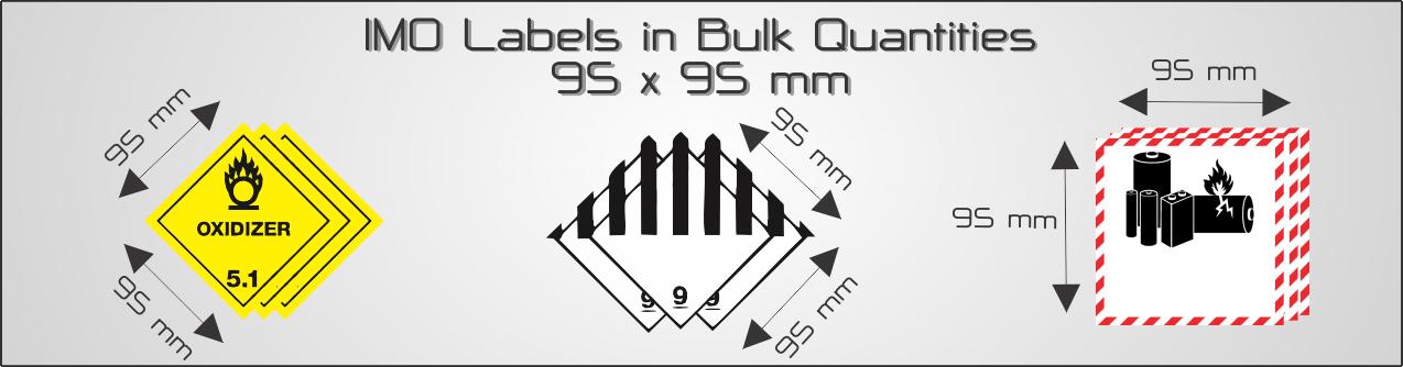 Bulk IMO Labels  -            95x95mm