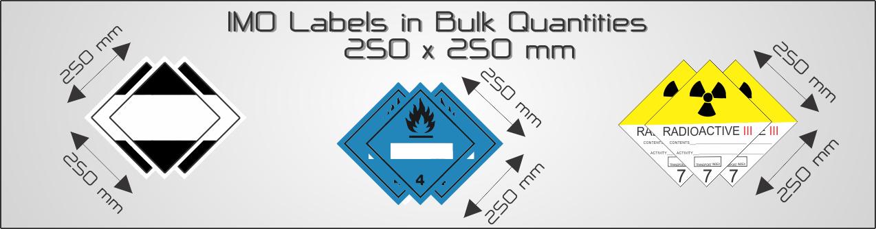 Bulk IMO Labels  - 250x250mm