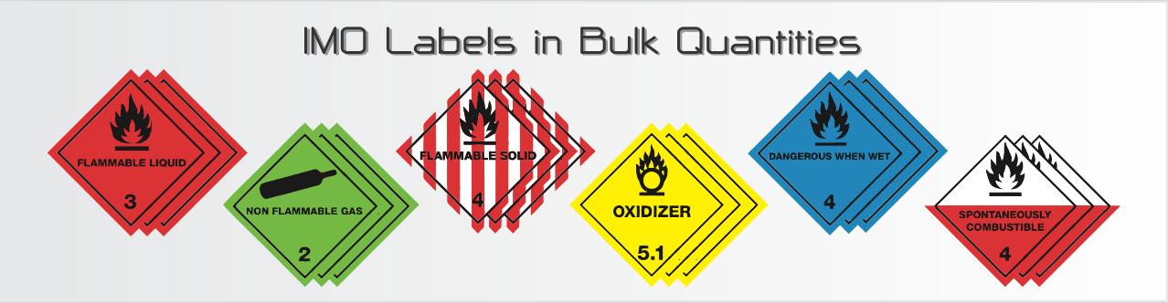 Bulk Labels  - IMO/IATA Hazard Diamonds